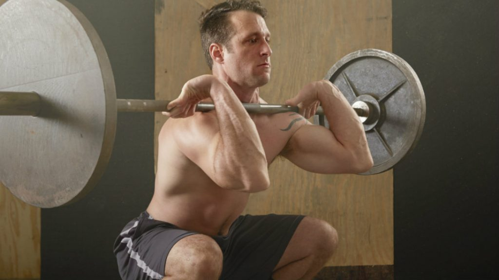 front-squat-pre-exhause-leg-workout