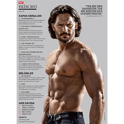 Muscle & Fitness Ekim 2015 İçindekiler