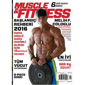 Muscle & Fitness Şubat 2016 Kapak