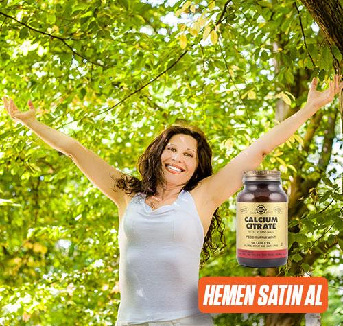Solgar menopoz desteği: Solgar Calcium Citrate with Vitamin D3