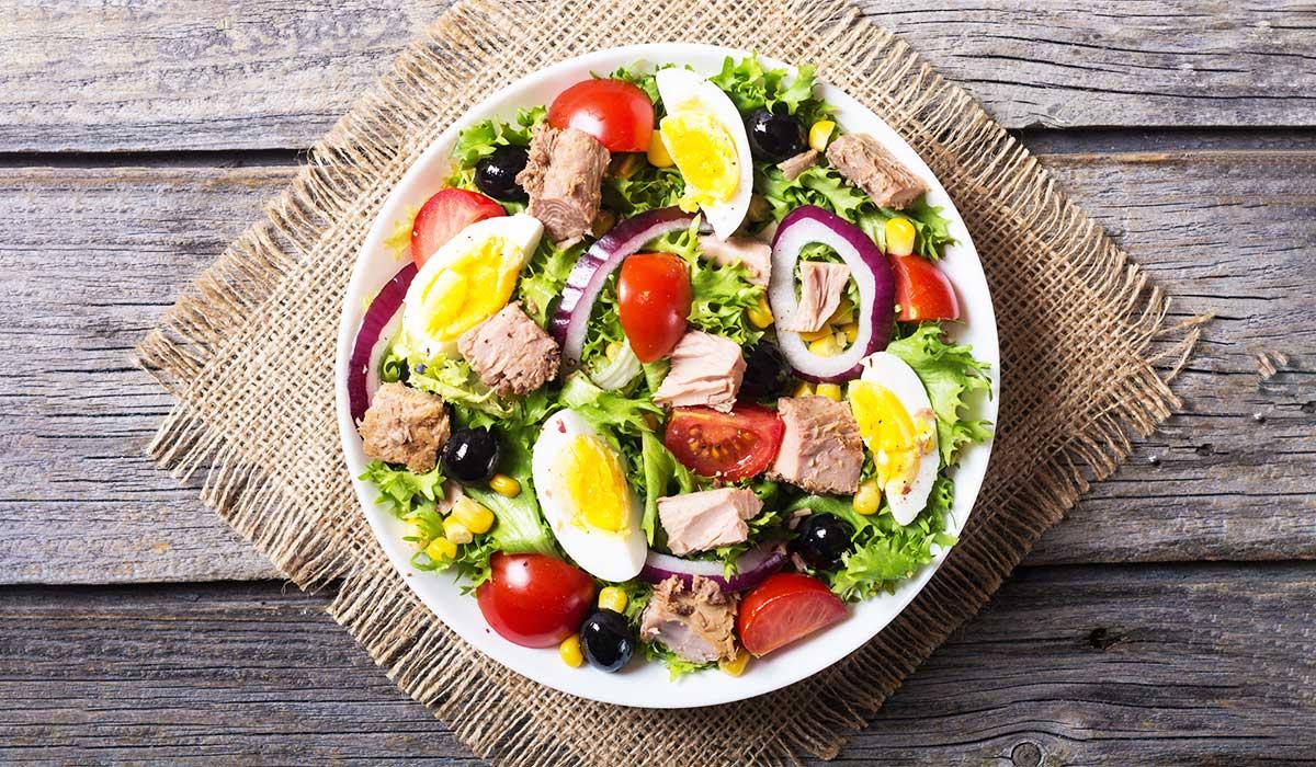 ton balıklı salata nefis bir protein kaynağı