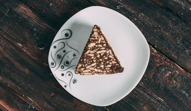 Yılbaşı menüsü için mozaik pasta tarifi.