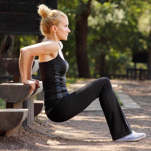 bench dip hareketi ile sırt kaslarınızı güçlendirin