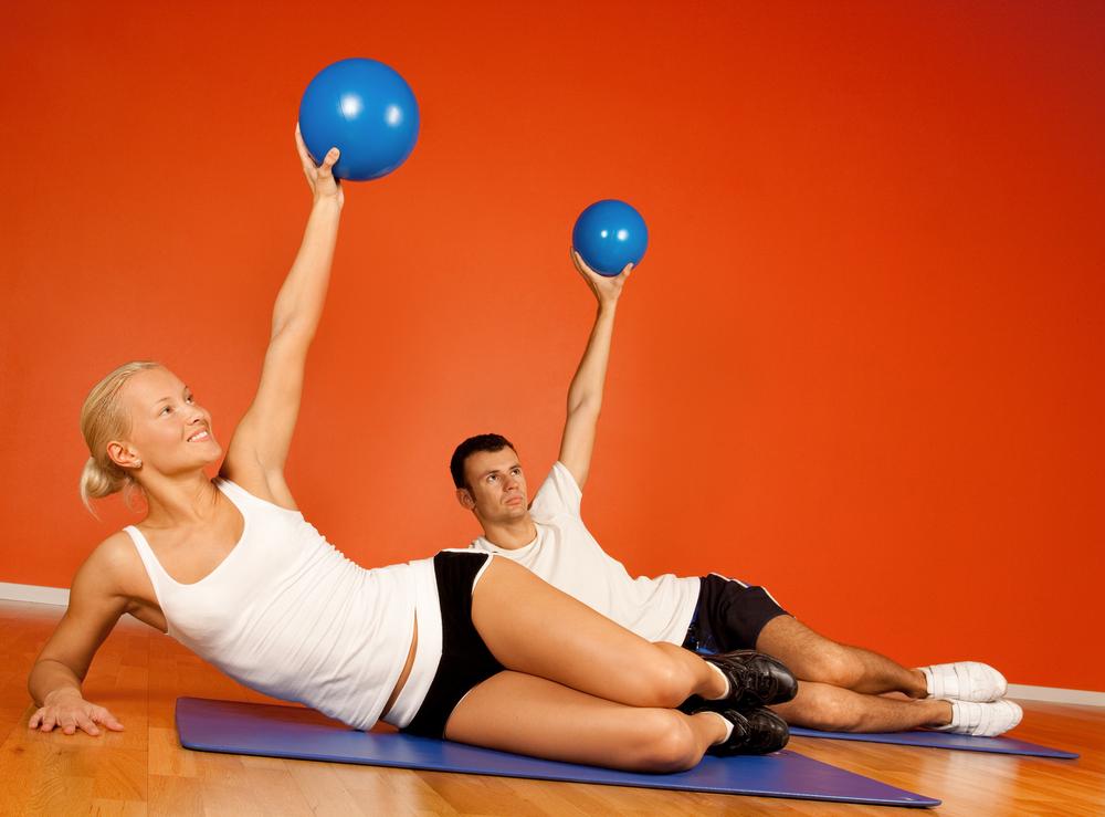 pilates topu ile zayıflayın